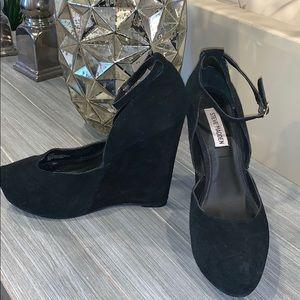 Steve Madden Suede Platform High Heel Shoes 8.5 M